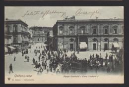 18508 Caltanissetta - Piazza Garibaldi E Corso Umberto I F - Caltanissetta