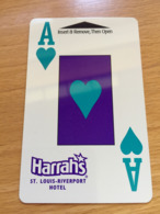 Hotelkarte Room Key Keycard Clef De Hotel Tarjeta Hotel  HARRAHS ST. LOUIS RIVERPORT - Télécartes
