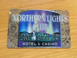 Hotelkarte Room Key Keycard Clef De Hotel Tarjeta Hotel  NORTHERN LIGHTS SKY DANCER  BELCOURT - Telefonkarten