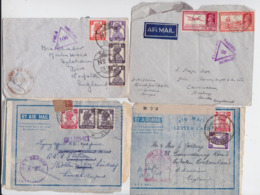BRITISH INDIA RAJ POSTAGE INDE CENSURE LOT OF 23 AIR MAIL COVER UNIT FIELD CENSOR WW2 LETTER ENVELOPE ON ACTIVE SERVICE - 1936-47 Roi Georges VI
