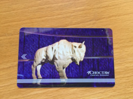 Hotelkarte Room Key Keycard Clef De Hotel Tarjeta Hotel  CHOCTOW  CASINO RESORT DURANT - Telefonkarten