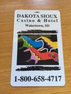 Hotelkarte Room Key Keycard Clef De Hotel Tarjeta Hotel  DAKOTA SIOUX WATERTOWN - Telefonkarten