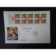 FDC Grand Format - Carnet Croix Rouge 2002, Oblit 7/11/02 Paris - FDC