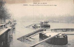 PIE.Z.19-GM-1168 : CRUE DE LA SEINE. PONT DE LA CONCORDE. - Inondations De 1910