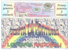 1996 £750 MONTE SANT'ANGELO SU CARTOLINA LOTTERIE NAZIONALI ANNULLO STORNARELLA - Pubblicitari
