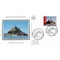FDC Soie - France / Nations Unies, Le Mont St Michel - Oblit 17/6/06 - 2000-2009