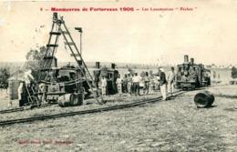 "LANGRES  =  Manoeuvres De Forteresse 1906 :  Les Locomotives ""Péchot""    902 - Langres"