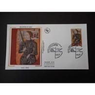 FDC Soie - Jeanne D'Arc, Oblit 11/5/2012 Domrémy La Pucelle - 2010-....