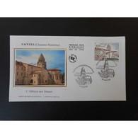 FDC Soie - L'Abbaye Aux Dames, Oblit 14/6/13 Saintes - FDC