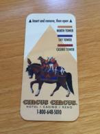 Hotelkarte Room Key Keycard Clef De Hotel Tarjeta Hotel CIRCUS CIRCUS RENO - Telefonkarten