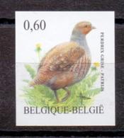 3381 Patrijs Buzin Vogel ONGETAND POSTFRIS** 2005 - Belgique