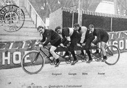 6883 CPM Cyclisme Quadruplette à L'entrainement - Cyclisme