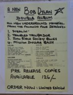 RARE DOUBLE BOOTLEG BOB DYLAN De 1969 - Editions Limitées