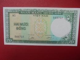 VIETNAM(SUD) 20 DÔNG 1964 PEU CIRCULER(B.5) - Viêt-Nam