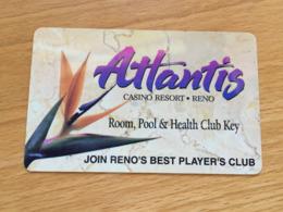 Hotelkarte Room Key Keycard Clef De Hotel Tarjeta Hotel ATLANTIS RENO - Telefonkarten