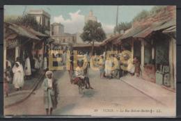 Tunis, La Rue Sidi-el-Beckir, écrite - Tunisia