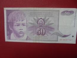 YOUGOSLAVIE 50 DINARA 1990 CIRCULER(B.5) - Jugoslavia