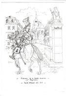 CPM.  15 X 10,5  -  Eclaireur De La Garde Impériale  (1er  Régiment )  -  Saint Wendel Vers 1813 - Allemagne