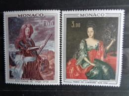 MONACO 1972 Y&T N° 874 & 875 ** - PRINCE ET PRINCESSE DE MONACO - Nuevos