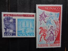 MONACO 1973 Y&T N° 926, 927, 928 X 2 ** - TIMBRE DIVERS - Nuevos