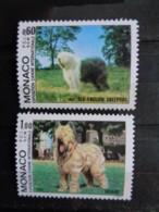 MONACO 1982 Y&T N° 1329 & 1330 ** - EXPO CANINE BOBTAIL & BRIARD - Nuevos