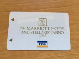 Hotelkarte Room Key Keycard Clef De Hotel Tarjeta Hotel JW MARRIOTT LIMA - Telefonkarten