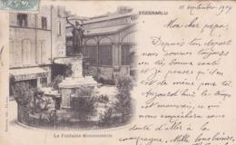 [34] Hérault > Pezenas La Fontaine Monumentale Et Les Halles Précurseur - Pezenas