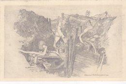 """( 59 ) - AUBERS """" Wasserbekämpfung"""" Zeichnung Carte Dessinée..Carte Allemande - Autres Communes"""