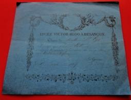 1887 BESANÇON LYCÉE VICTOR HUGO CLASSE MATH SAINT-CYR BULLETIN HONNEUR DE 2é PLACE COMPLIMENTS MATHÉMATIQUES - Diplômes & Bulletins Scolaires