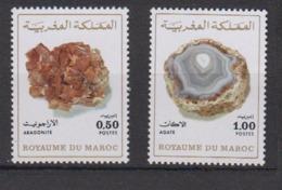 MAROC-1975-N°721/722** ROCHES MINERALES - Maroc (1956-...)