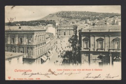 18547 Caltanissetta - Corso Umberto I Con Vista Del Monte San Giuliano F - Caltanissetta