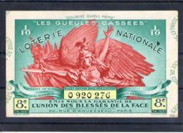 Loterie Nationale Les Gueules Cassées. 1937 - Billets De Loterie