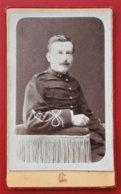 55 SAINT MIHIEL L. CHARPIN 60 Compiegne  Photo CDV Petit Format  Du 54e Rgt D ' Infanterie - Guerre, Militaire