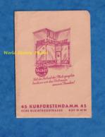 Pochette Ancienne Pour Photographie - BERLIN - Magasin Photo TALBOT - 45 Kurfürstendamm Ecke Bleibtreutstrasse - Allemagne