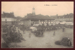 BROU Les Halles Animée  Marché -  Eure-et-Loir 28160 -  Brou Arrondissement De Châteaudun N°12 - Other Municipalities