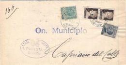 1929 IMPERIALE 1 Tirat. Coppia C.10 + LEONI C,5 + MICHETTI  C.30 Su Piego Ghedi (22.11) - Marcofilía