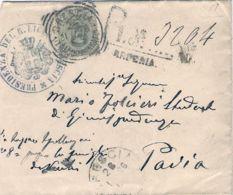 1896 Effigie C.45 (63) Isol Su Raccomandata Brescia (26.1) - 1878-00 Umberto I