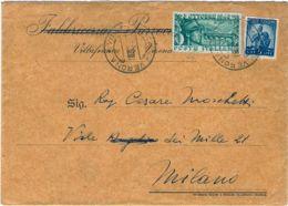 1949 PONTE BASSANO Lire 15 + DEMOCRATICA Lire 5 (555+592) Su Busta - 6. 1946-.. Repubblica