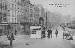 PIE.Z.19-GM-1191 : CRUE DE LA SEINE. QUAI DES GRANDS AUGUSTINS. - Inondations De 1910