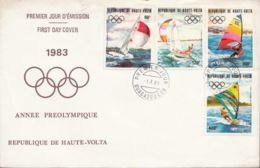 HAUTE VOLTA - 1983 - FDC - Année Préolympique - JO - Summer 1984: Los Angeles