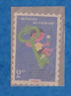 """Timbre Grand Format & Pochette D'origine - """" Jeunesse Au Plein Air """" 1962 Confédération Des Oeuvres Laïques De Vacances - France"""