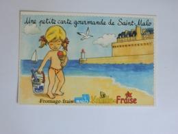 LAITERIE DE SAINT MALO - Claire à La Plage  Ref 1529 - Publicité