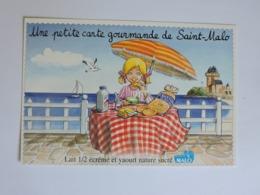 LAITERIE DE SAINT MALO - Claire Prend Son Petit Déjeuner  Ref 1530 - Publicité