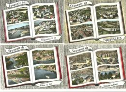 """Lot 12 CPSM """"Livre Ouvert"""" Multivues France LAPIE( Voir Scans) - Cartes Postales"""