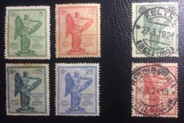 ITALIA REGNO - 3º Anniversario Della Vittoria - 1 Novembre 1921 + 2 FRANCOBOLLI Soprastampati - 1924 ( 5C E 10C) - 1900-44 Vittorio Emanuele III
