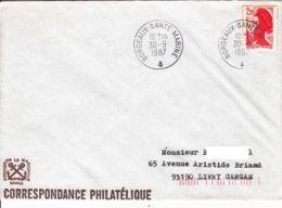 FRANCE - 1987 - Bordeaux-Santé-Marine Sur Lettre - France