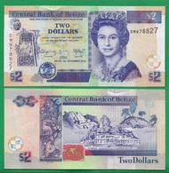 BELIZE - 2 DOLLARS – 2014 - UNC - Belice