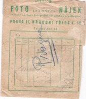 ENVELOPPE  Pour  PHOTOS,,,, FOTO  JAROSLAV  HAJEK ,,,,, PRAGUES - Otros