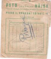 ENVELOPPE  Pour  PHOTOS,,,, FOTO  JAROSLAV  HAJEK ,,,,, PRAGUES - Photographie