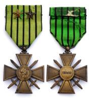 Croix De Guerre 1939 Avec 2 étoiles. Gouvernement Du VICHY, Marechal Petain (1939-1944) - France